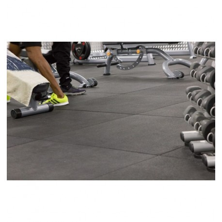 Loseta de caucho para gimnasio 100 X 100 X 2 cm