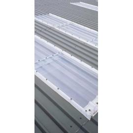 Rollo de policarbonato compacto transparente cristal 1,25 x 30 metros