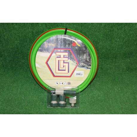 KIT MANGUERA AQUALATEX VERDE 15mm (15 METROS)