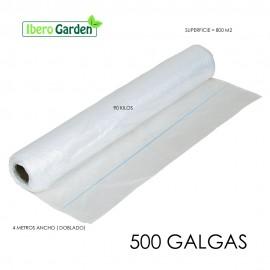 PLÁSTICO NATURAL 500 GALGAS 4 METROS ANCHO (800M2)