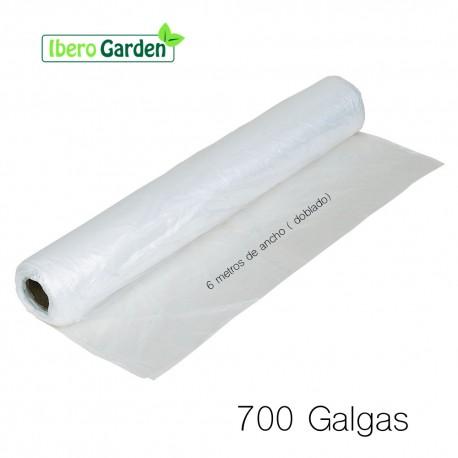 """PLÁSTICO NATURAL 700 GALGAS- ANCHO 6 METROS """"AL CORTE"""""""